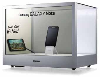 Samsung's NL22B transparent display