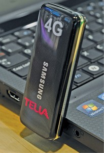 4G LTE single-mode modem by Samsung, operating in the first commercial 4G network by Telia (Courtesy: en.wikipedia.org)