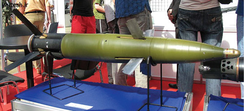 Fig. 16: Russian krasnapol laser-guided artillery shell (Photograph courtesy: 'Mike1979 Russia' through Wikipedia)