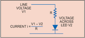 Fig. 3: Circuit of an LED