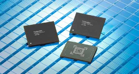 Toshiba's 128GB embedded NAND flash memory module