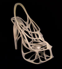 Fig. 3: A 3D sandal printed out of nylon (Source: Chemistry & Industry April 25, 2011)
