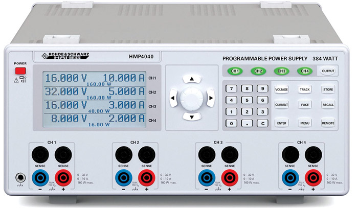 Rohde & Schwarz HMP4040 programmable four-channel power supply