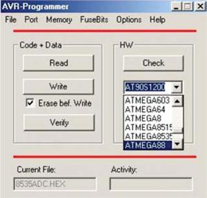 Fig. 4: Screenshot of AVR-Programmer