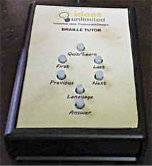 Remote Braille Tutor unit