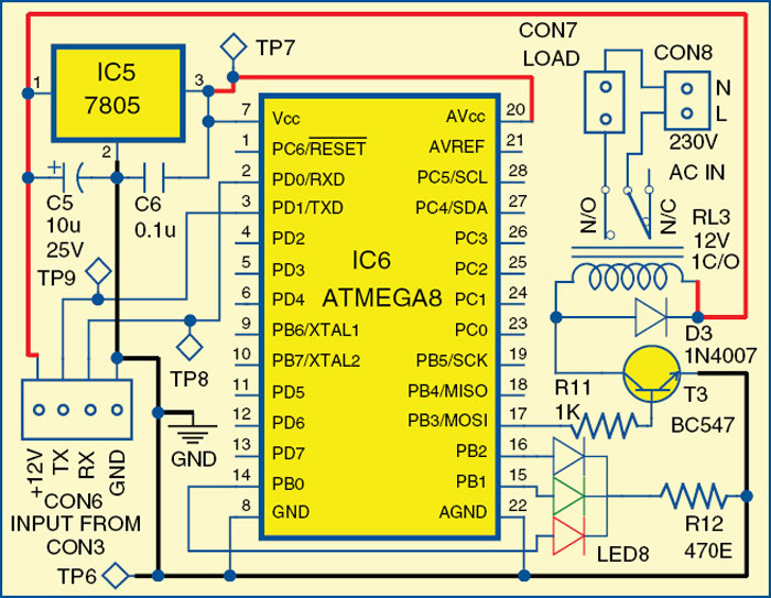 Fig. 3: Relay interface module circuit