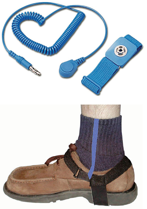 Fig. 5: Wrist straps and shoe straps