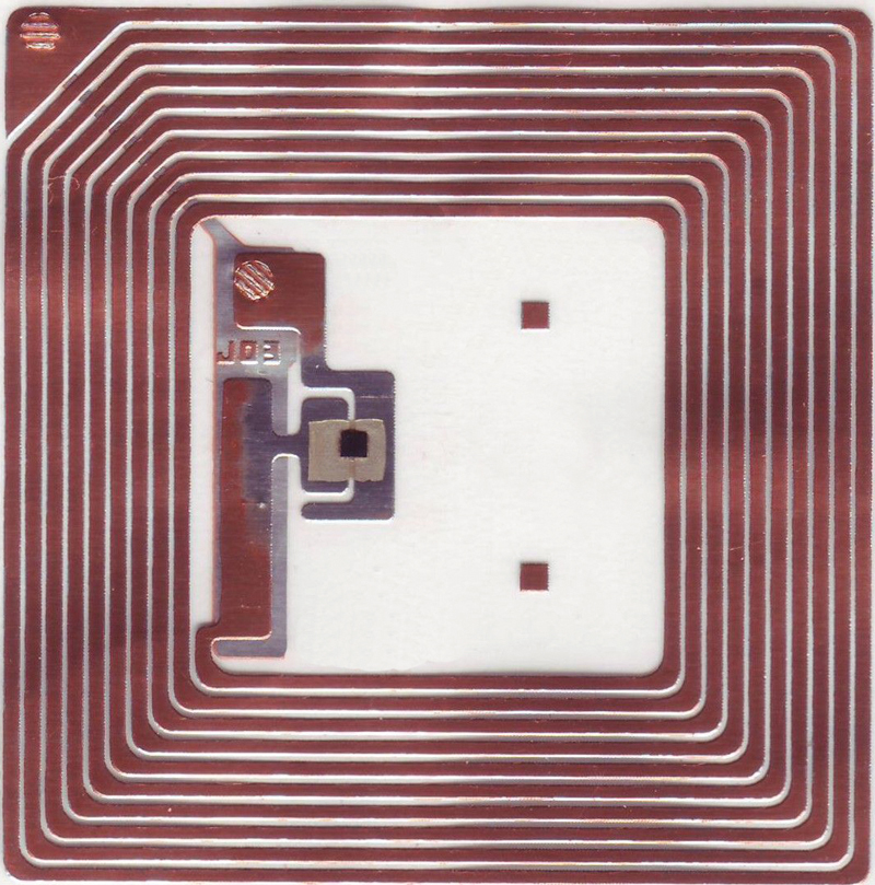 Fig. 3: Internal structure of typical RFID tag