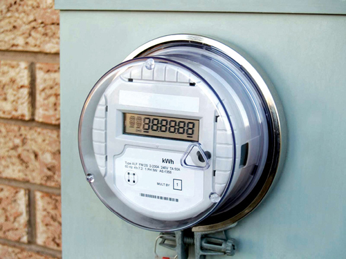 A smart meter (Source: http://smartgridtech.wordpress.com)
