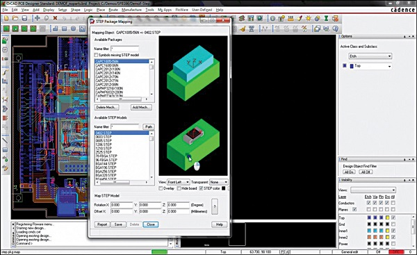 Fig. 3: It is now possible to map and link a 3D STEP model to the components in OrCAD PCB Editor (Image courtesy: www.orcad.com)