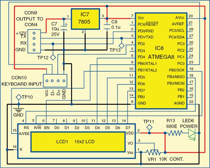 Fig. 6: Keyboard interface module circuit