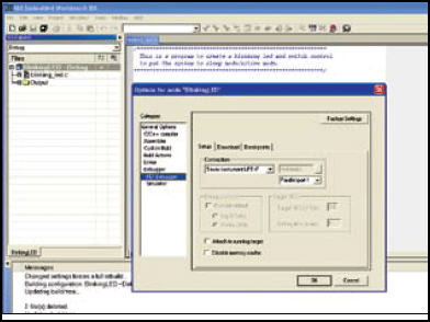 Fig.4: Screenshot of a typical IAR embedded workbench environment