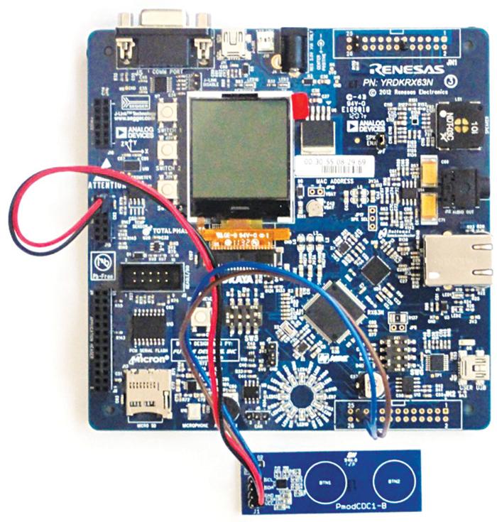 Fig. 10: Renesas' YRDKRX63N board
