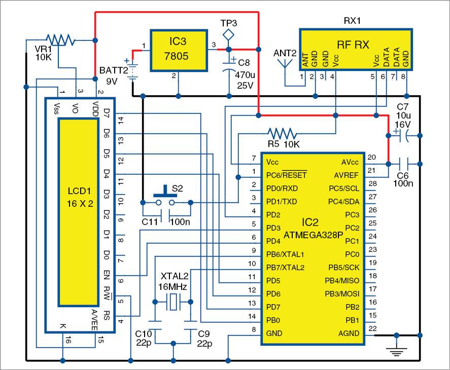 Slika 3: Dijagram strujnog kruga prijamne jedinice