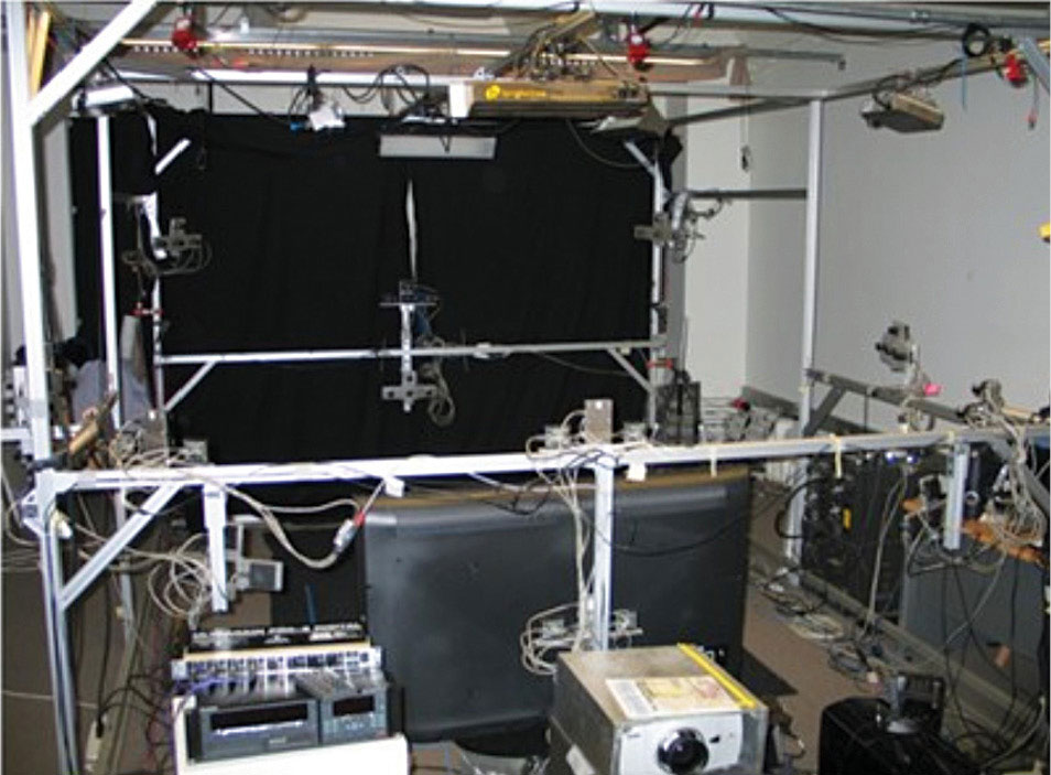 Fig. 4: The Tele-immerson Lab at University of California, Berkeley, the USA (Source: http://tele-immersion.citris-uc.org/lab)
