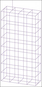Fig. 6: Wire-frame MOMmodel of a cellular telephonehandset with an antennaconnected to the mesh(Courtesy: Book by ThomasA. Milligan)