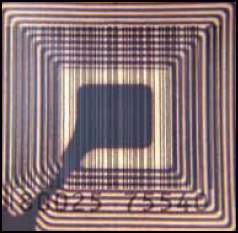 Fig.4: internal structure of a typical RFID tag