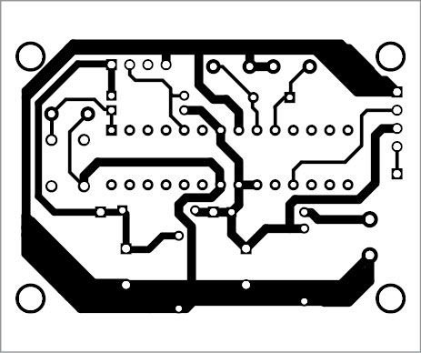Slika 5: Komponentni izgled PCB-a prikazanog na slici 4