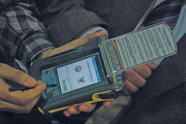 Fieldman device developed by Infronics Systems for pest surveillance
