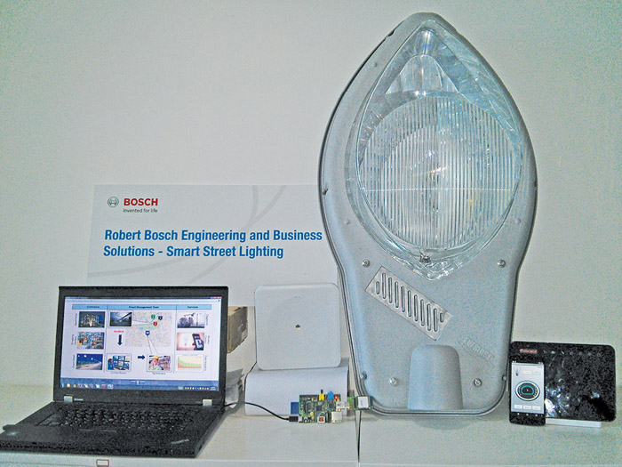 The street lighting system at display during an event