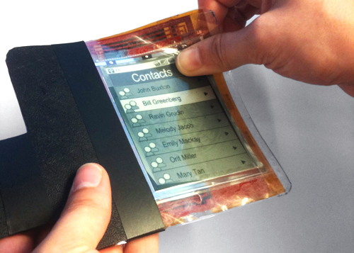 PaperPhone - first flexible smartphone prototype (Courtesy - Wikipedia)