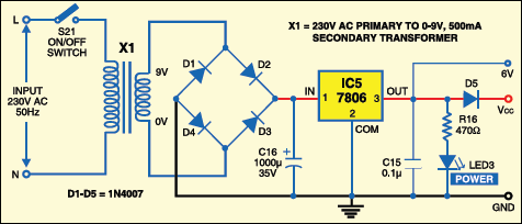 Fig.3: Power supply circuit