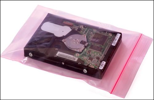 Fig. 9: Pink poly bag