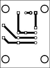 Fig. 5: An actual-size PCB for the controller