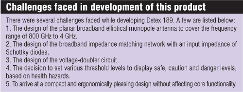 Challenges faced in development of Detex 189