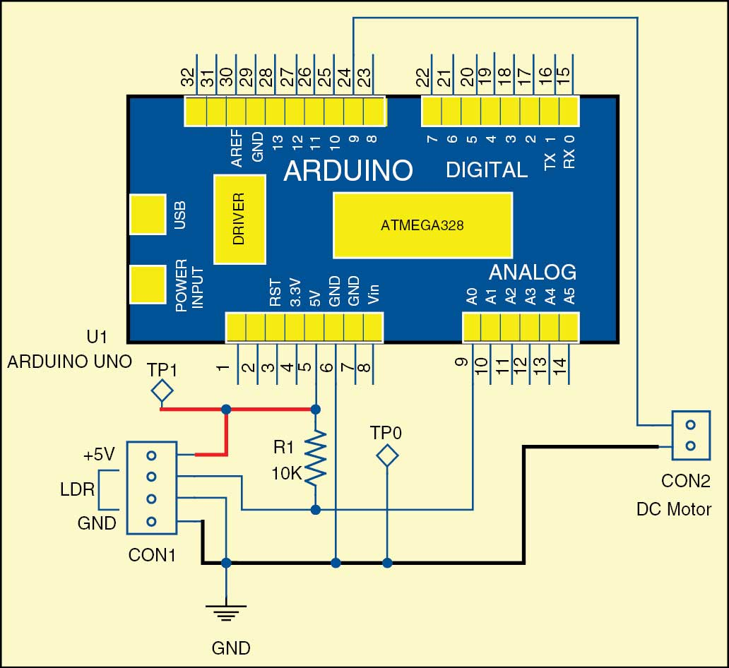 Ldr Based Dc Motor Speed Control Detailed Project Available Circuit Works Diagram Of Auto Intensity Led Lights 2 The