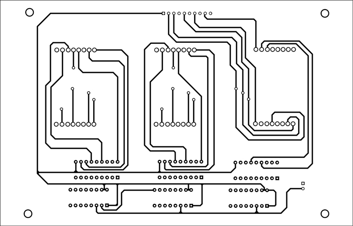 Fig. 8: Track layout of the top layer of display unit