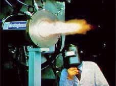 Fig. 1: A plasma torch in operation