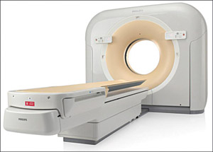Fig. 4: Philips 128 Slice Ingenuity CT scannerwith iDose4 technology