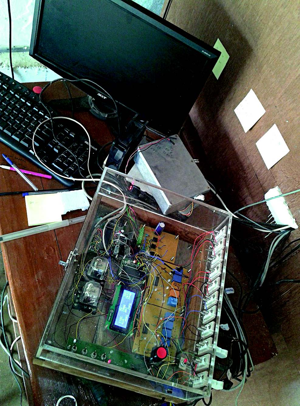 Electronics setup for the poultry incubator by Pluto India