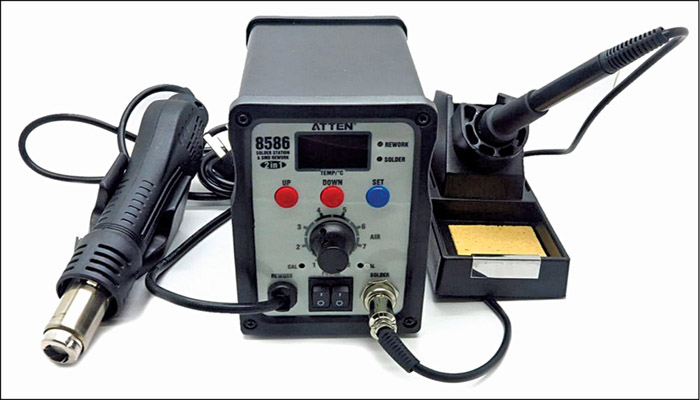 AT8586 thermo-control anti-static soldering station