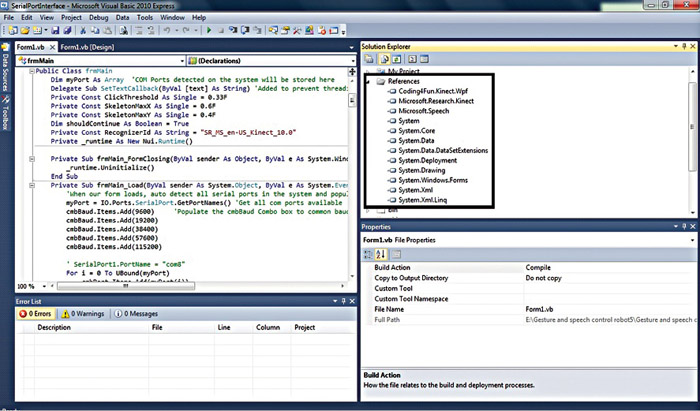 Fig. 5: Code compilation and debugging