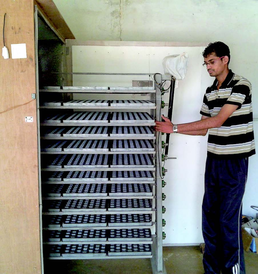 Movable tray tilting setup by Pluto India
