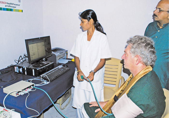 Cisco HealthPresence being used for health checkup