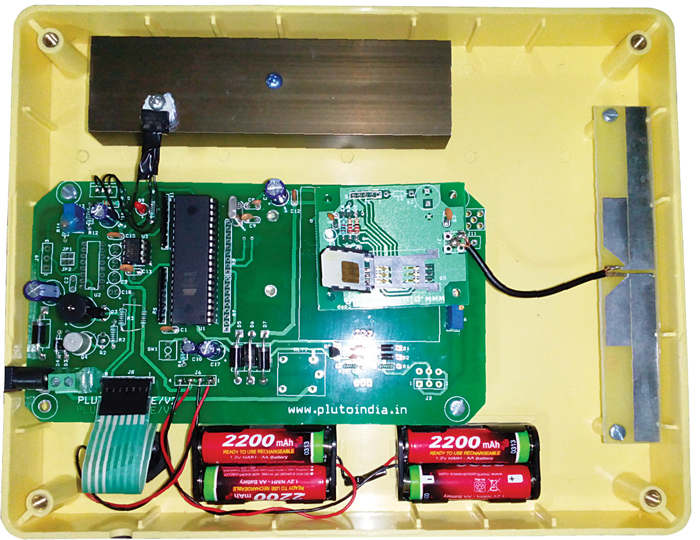 An inside view of the device