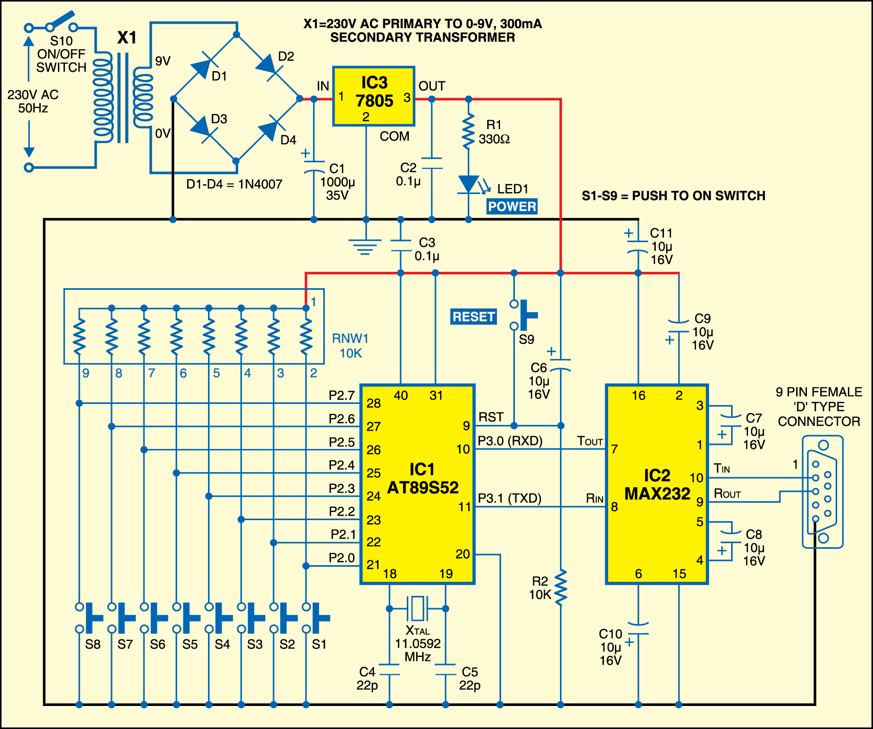 Microcontroller Based Serial Data Transfer To Pc Electronics For You Gsm Modem Interface With 8051 Fig2circuit A