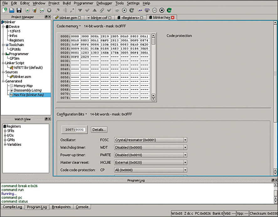 Fig. 3: Hex file editor