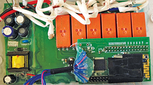 Internal components of an Internet-enabled switch