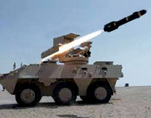 Fig. 14: Hellfire-II fired from a landvehicle