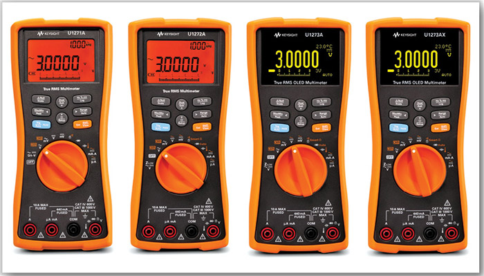 Fig. 1: Keysight's U1200 series digital multimeters, where U1117A IR-to-Bluetooth adaptor can be connected to the IR port for enabling wireless connectivity