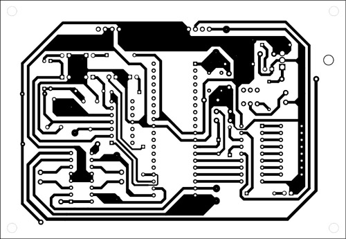 Fig. 7: An actual-size, single-side PCB for the robot