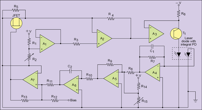Fig. 9: Laser-diode drive circuit for constant-output power