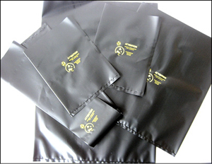 Fig. 10: Black conductive poly bags