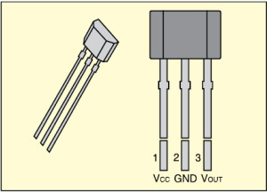Fig. 6: A1301/A1302 linear Hall effect sensor IC by Allegro
