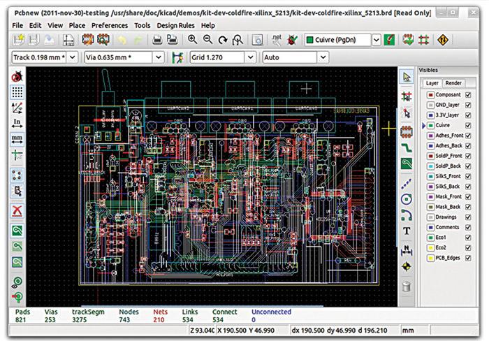 KiCad EDA software suite