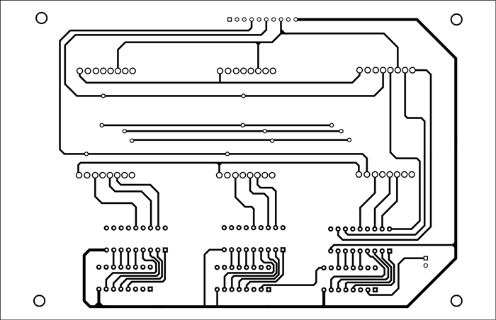 Fig. 7: Track layout of the bottom layer of display unit